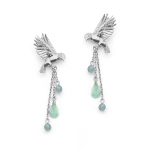 DOUBLE BIRD EARRING AMAZ