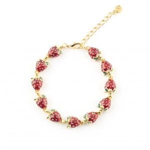 Summer Strawberry Bracelet