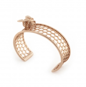 Bee & Honeycomb Cuff Rose Gold