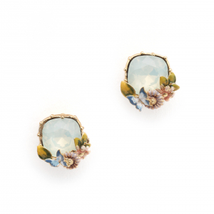 Scenes of Nature Earrings - Chrysolite Opal