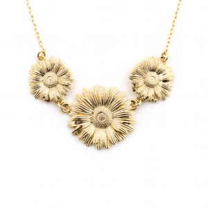 Daisy Chain Trio Necklace - Gold