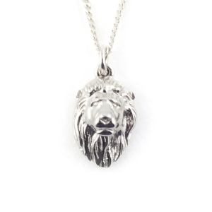 LION PENDANT RHODIUM
