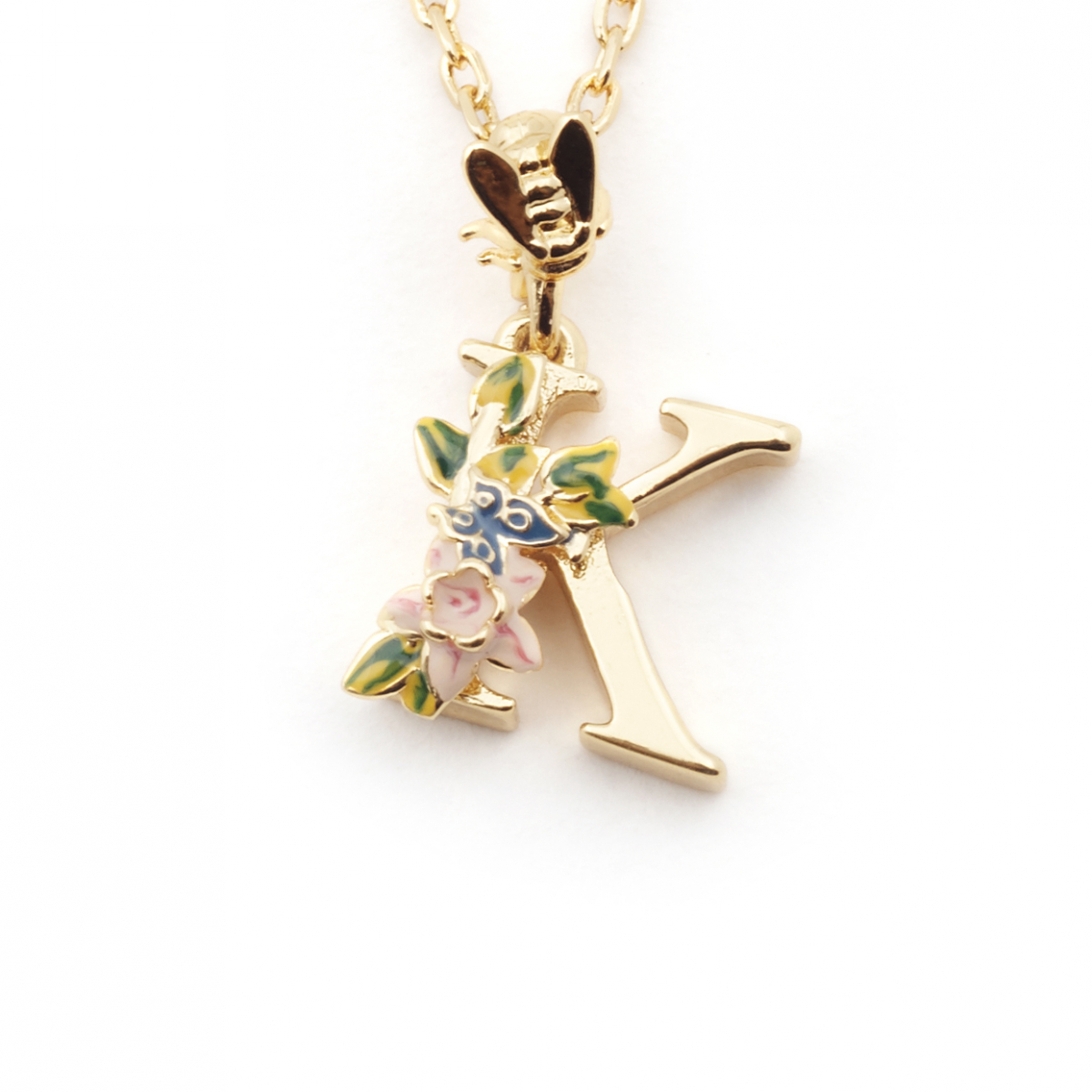 Floral initial pendant k fashion jewellery delivery and returns aloadofball Image collections