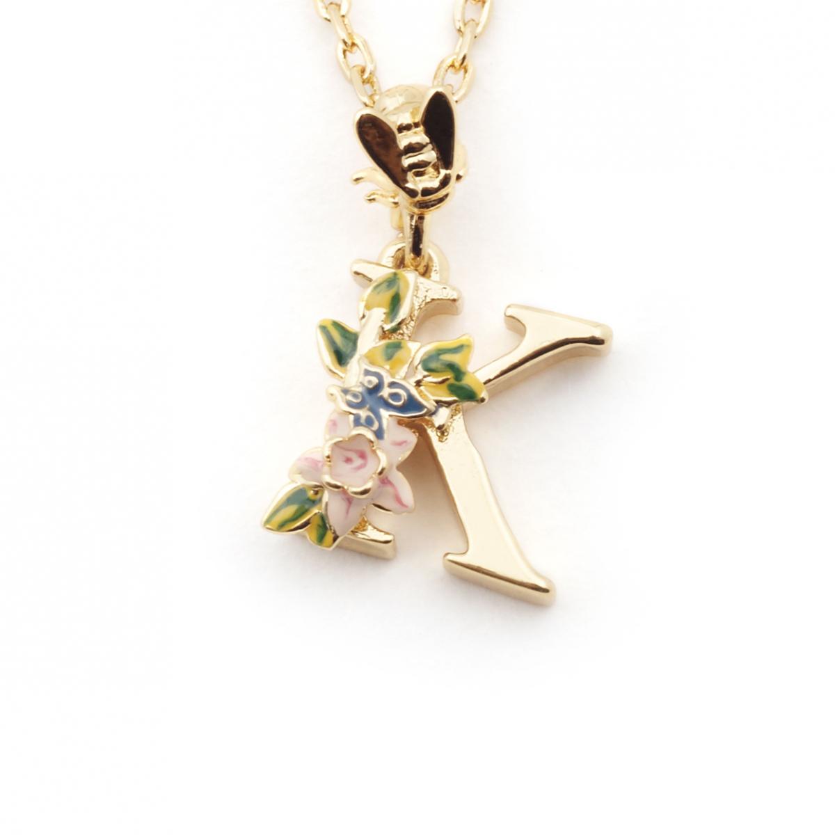 6e07ba6025705c K Initial Pendant Necklace - Pendant Design Ideas