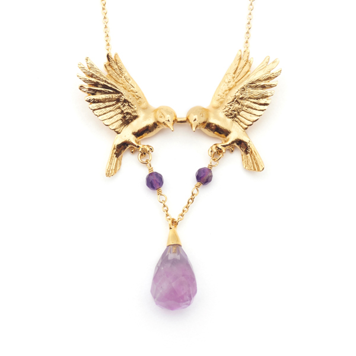 Double Bird Necklace Amy