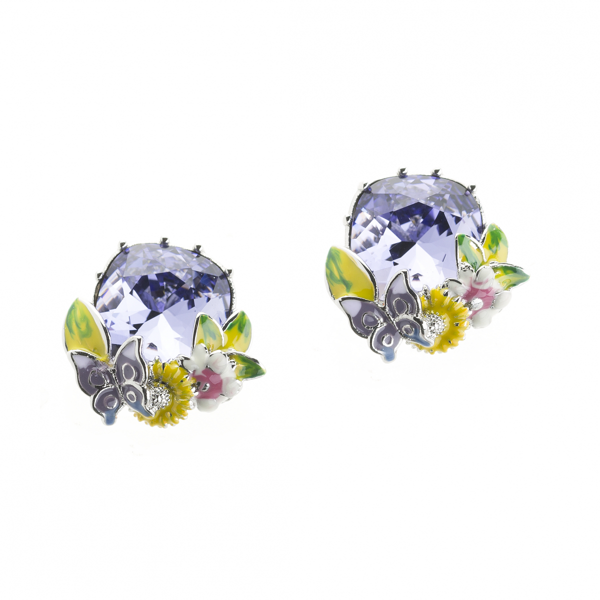 Scenes of Nature Earrings - Violet