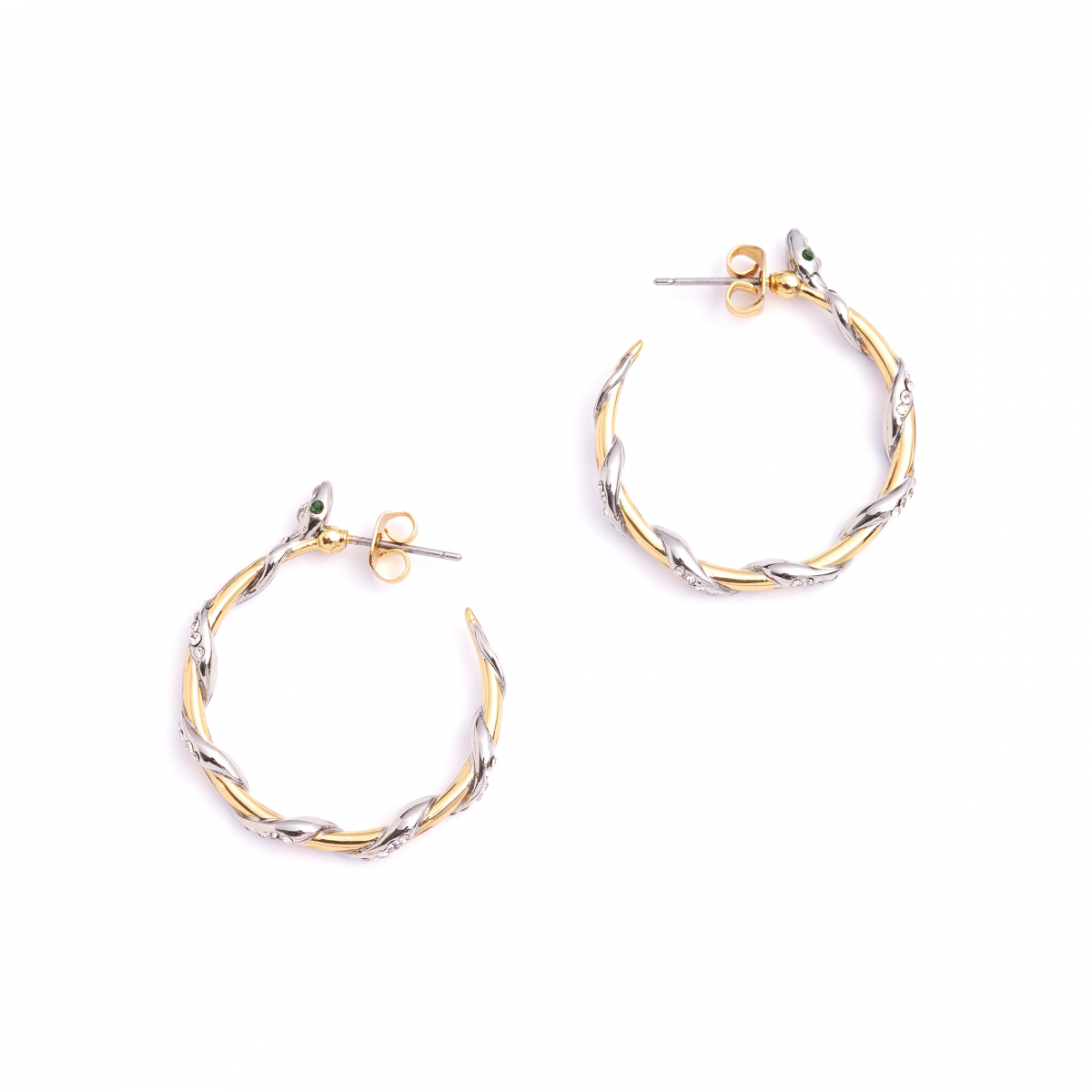 Bejewelled Snake Hoops