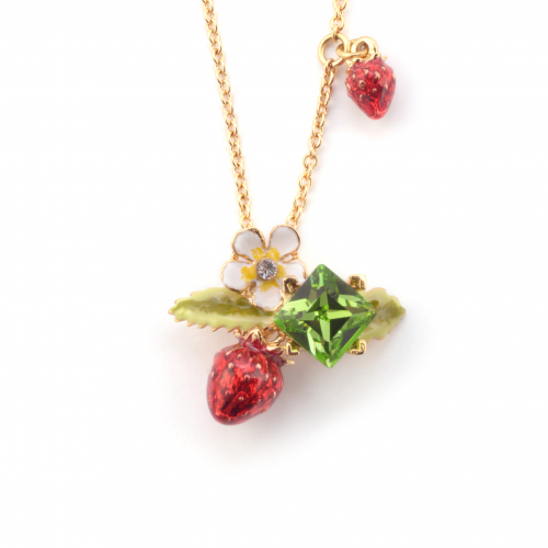 Wild Strawberry Pendant - Gold
