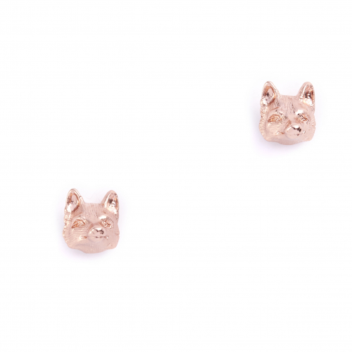 Fox Stud Earrings Rosegold