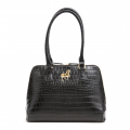 Alternate Image For Horse Cecile Croc Bag - Black