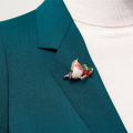 Alternate Image For The Robin Brooch
