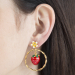 Alternate Image For Strawberry Circle Stud Earring