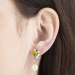 Alternate Image For Bee & Ladybird Floral Cluster Pearl Drop Earring