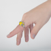 Alternate Image For Scenes of Nature Ring - Canary Opal - Medium Only