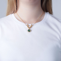 Alternate Image For Mini Cherub Necklace (gold)