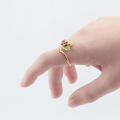 Alternate Image For Bee & Vintage Rose Open Ring