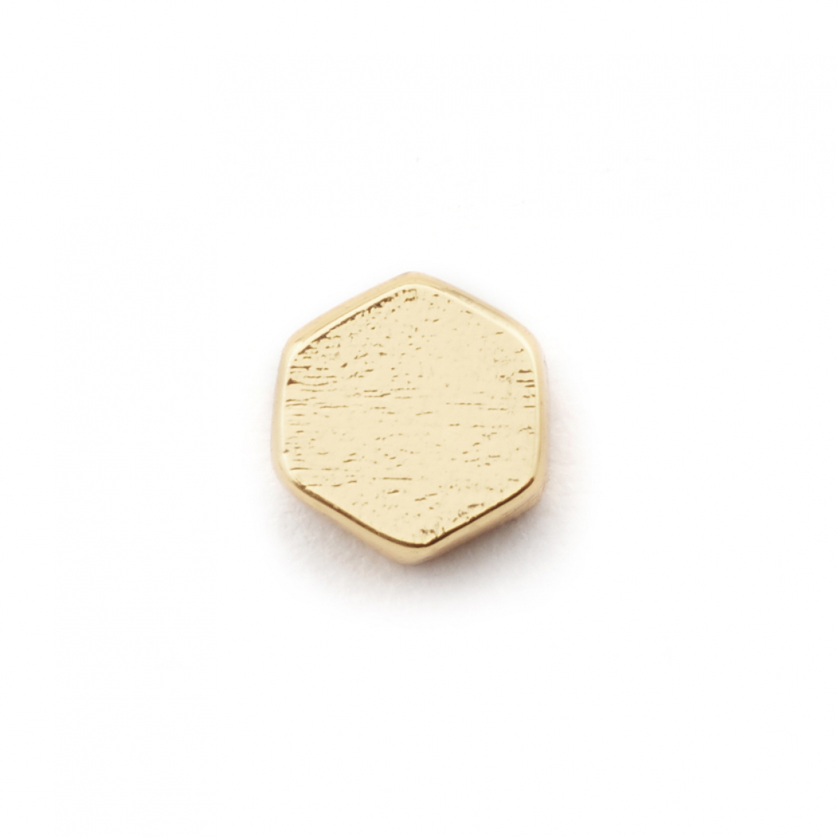 Single Honeycomb Stud - Gold