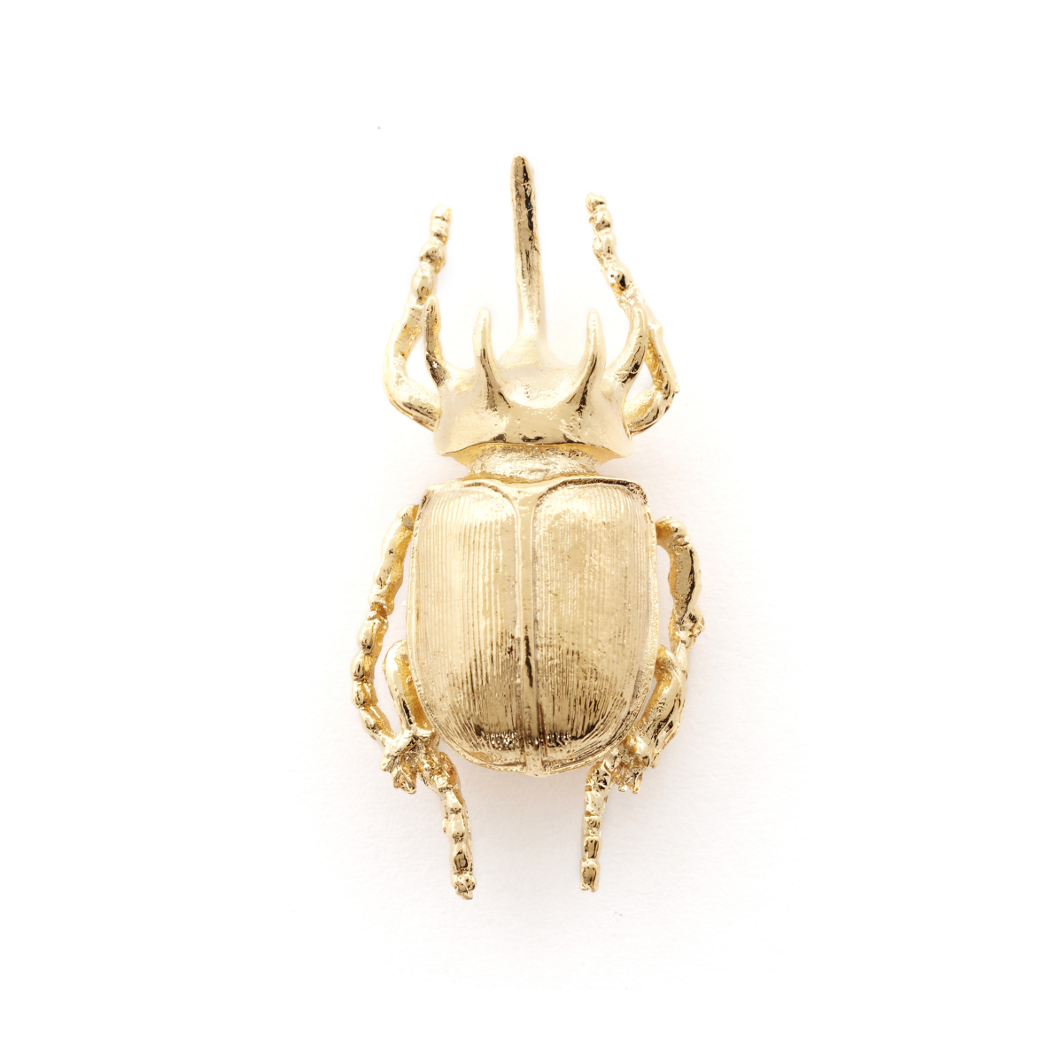 Beetle Pin Brooch - Gold