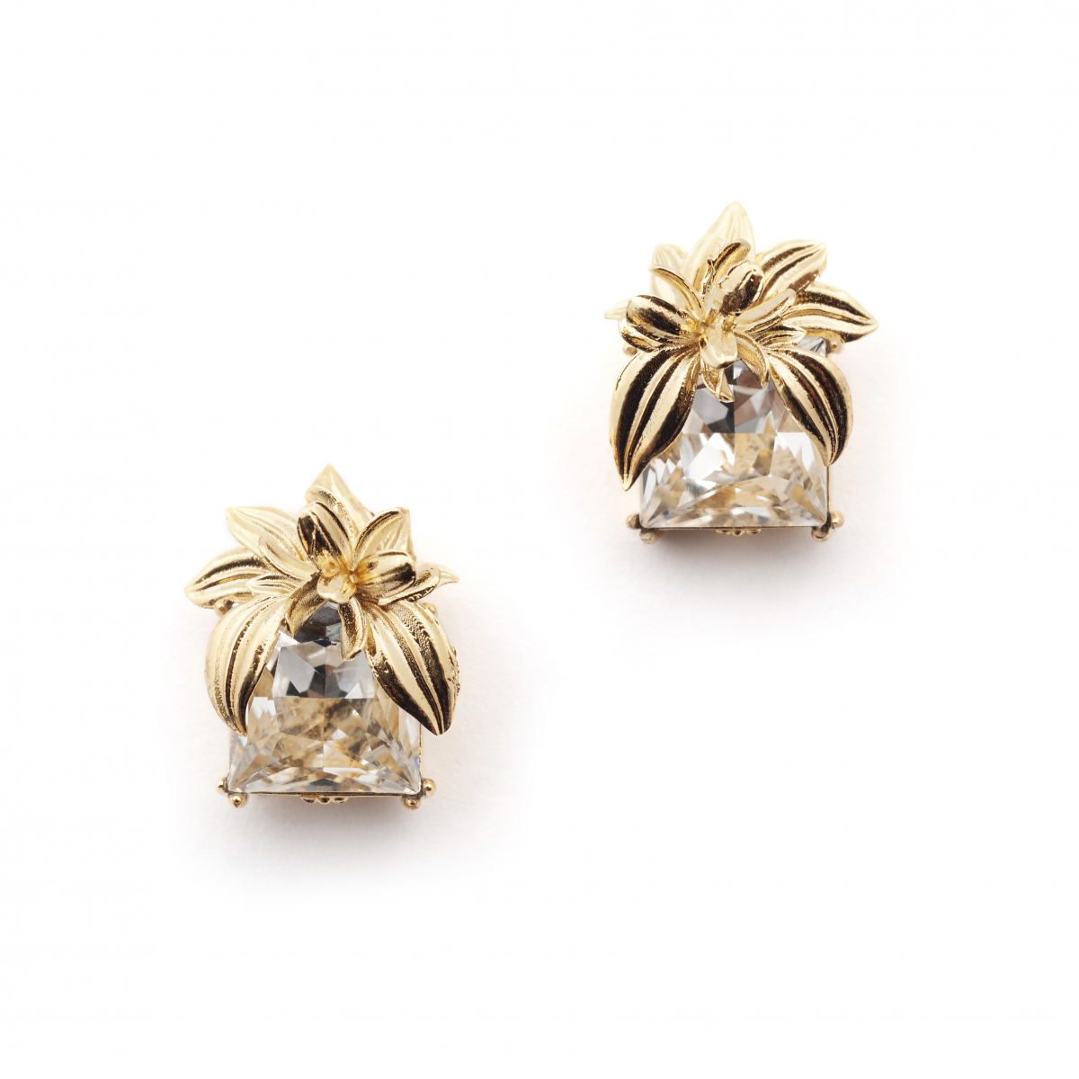 The Evelyn Edit Crystal Stud Earrings - Large