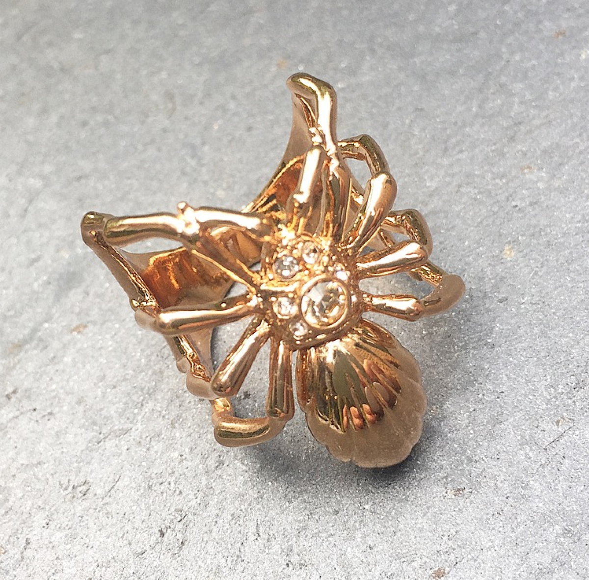 Archive Spider Ring Rose Gold - Small Size Only
