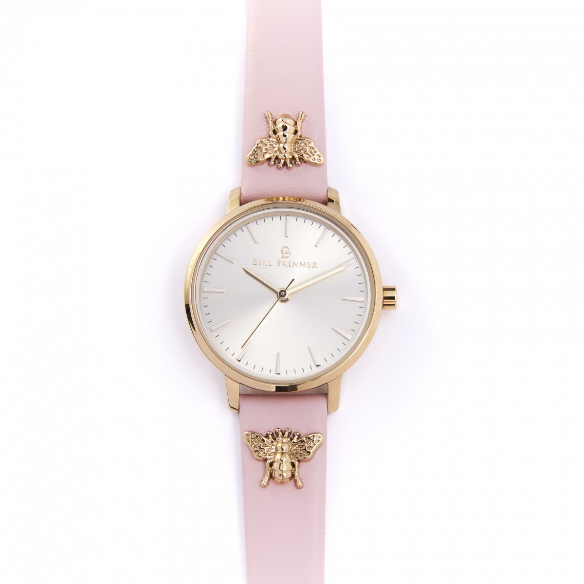Queen Bee Leather Watch - Blush