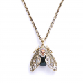 Alternate Image For Bejewelled Moth Pendant