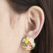 Alternate Image For Statement Floral Orb Clip Earring