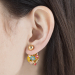Alternate Image For Floral Orb Stud Earring