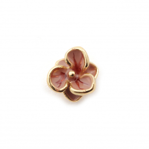 Single Flower Stud - Baby Pink