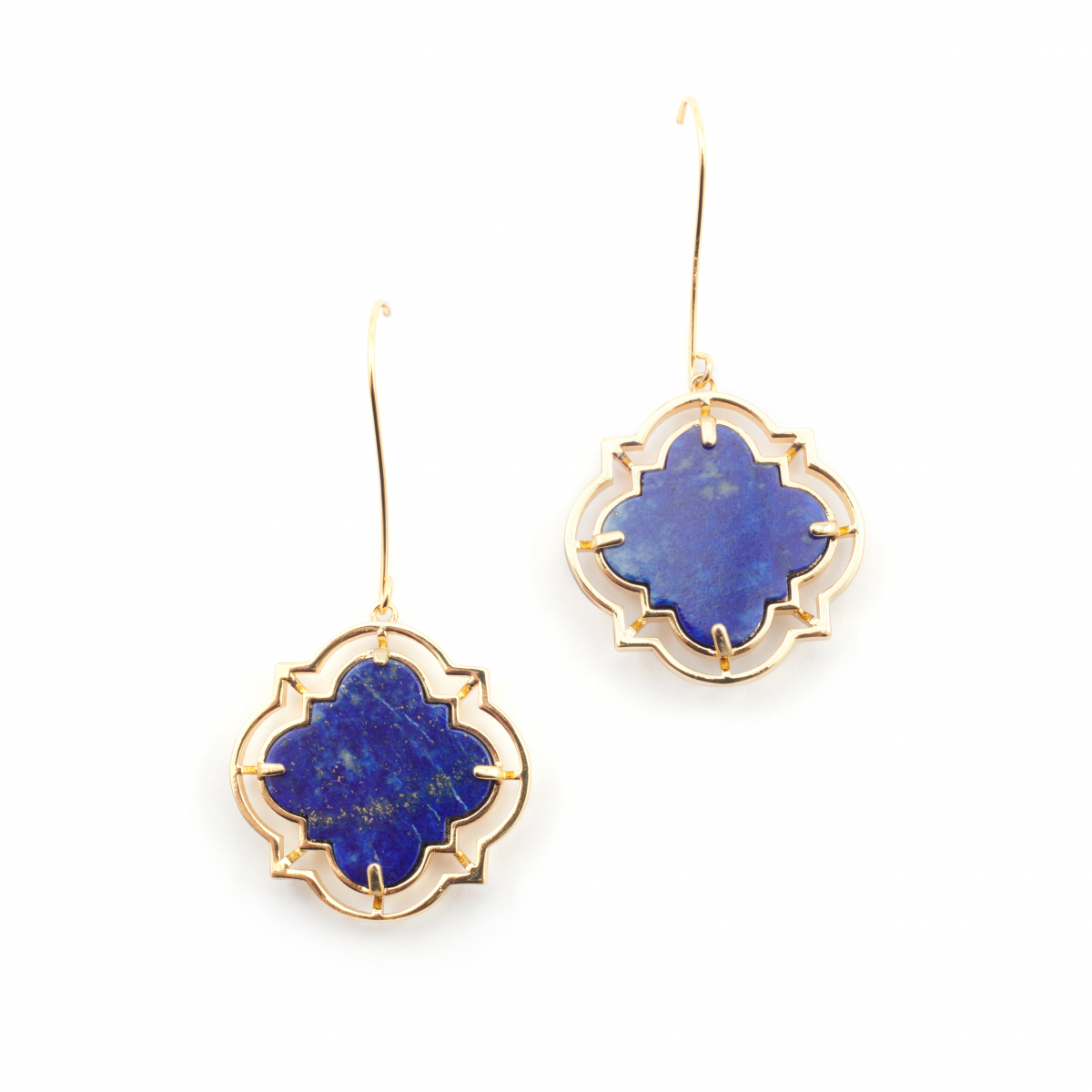 Statement Filigree Earrings - Lapis