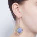 Alternate Image For Statement Filigree Earrings - Lapis