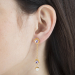 Alternate Image For Botanical Floral Drop Earring - Gold