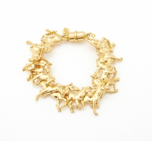 Galloping Horse Bracelet (gold)