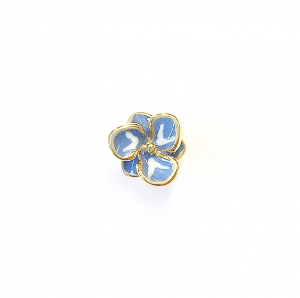 Single Flower Stud - Baby Blue
