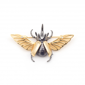 Flying Beetle Brooch