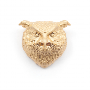 Owl Statement Brooch - Gold