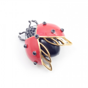 Bejewelled Ladybird Statement Brooch