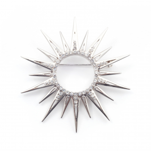 Starburst Statement Brooch - Rhodium