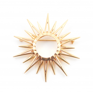 Starburst Statement Brooch - Gold