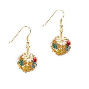 Floral Orb Hook Earring