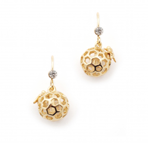 Mini Bee Orb with Bee Drop Earring - Gold