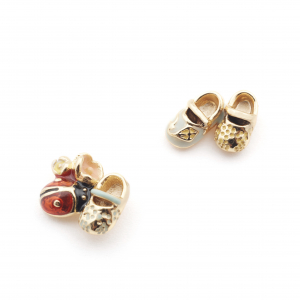 Baby Shoes & Ladybird Earrings