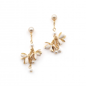 Magnolia Flower Charm Earrings