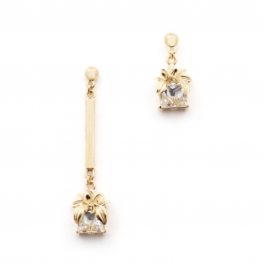 The Evelyn Edit Crystal Drop Earrings - Small