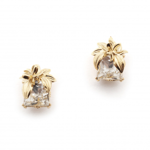 The Evelyn Edit Crystal Stud Earrings - Small