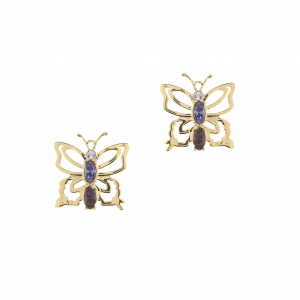 Botanical Butterfly Stud - Gold