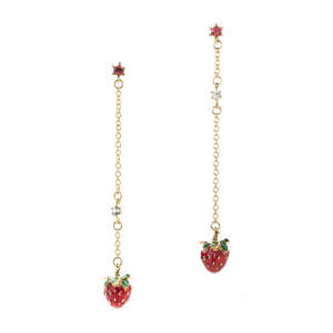 Strawberry Drop Earring