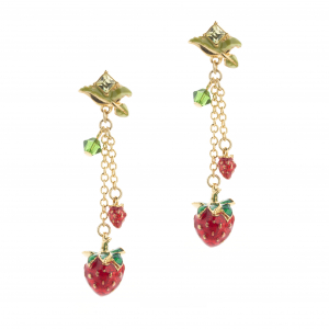 Wild Strawberry Multi Drop Earring