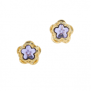 Botanical Flower Stud - Gold