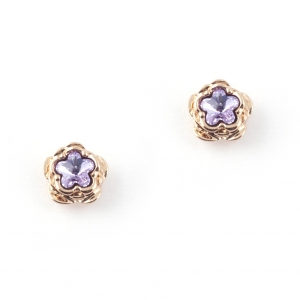 Botanical Floral Earring - Rose Gold